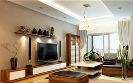 Cho thuê căn hộ chung cư số 143 Đốc Ngữ, Ba Đình, 120m2, 3PN, nội thất rất đẹp, 15 tr/tháng